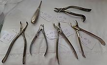 6 Assorted Antique Dental Instruments