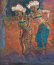TEW NAI TONG (b. 1936 - d. 2013 ), Dancing All Day Long, 2002, oil on canvas