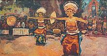 KOEMPOEL SOEJATNO (b. 1912 - d. 1987 ), Legong Dance, Undated, Oil on canvas