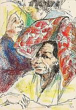 PETER HARRIS (b. 1923 - d. 2009), Sabah Ethnicity, 1958, Pastel and ink on paper