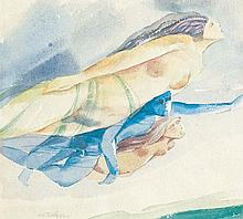 TEW NAI TONG (b. 1936 - d. 2013),Flying In My World, 1986, watercolour on paper