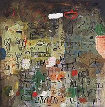 FAUZUL YUSRI (b. 1974), Di Dinding, 2014, Mixed media on jute
