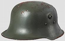 A lightweight steel child's helmet