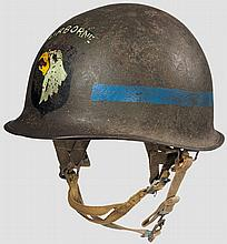 A steel helmet M 1 US 101st Airborne MP