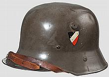 A lightweight steel child's helmet Luftwaffe DD