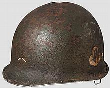 A steel helmet M 1 US 101st Airborne 1st Battalion 327th GIR
