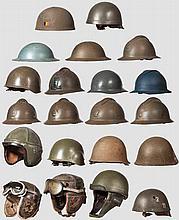 Kleine Helmsammlung, Frankreich und Belgien, 1940 bis Neuzeit
