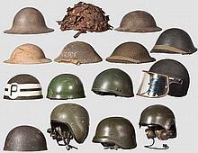 15 Helme Großbritannien, ca. 1940 bis Gegenwart