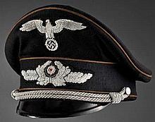 Schirmmütze zur schwarzen Uniform für Diplomaten des Höheren Dienstes