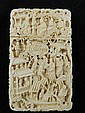 A fine 19th Century Chinese ivory card case,