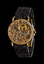 An 18 Karat Yellow Gold Skeletonized Wristwatch, Audemars Piguet,