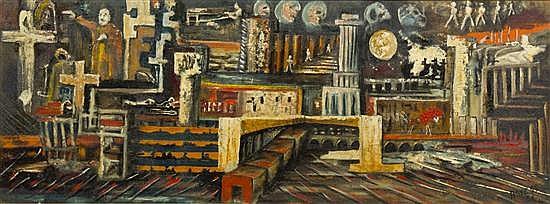 Aref el Rayess, (Lebanese, 1928-2005), Untitled, 1961