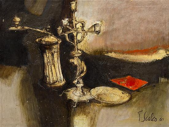 Giorgio Scalco, (Italian, b. 1929), Candelabra and Pepper Grinder, 1960
