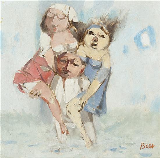 Louis Bosa, (Italian/American, 1905-1981), Man's Dilemma, 1967