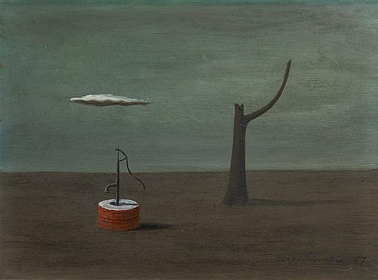 Gertrude Abercrombie, (American, 1909-1977), Wishing Well, 1947