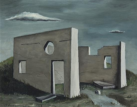 Gertrude Abercrombie, (American, 1909-1977), The Slaughter House at Aledo, 1956