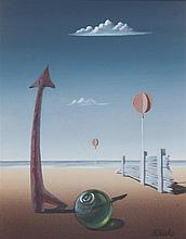 * Norman Black, (British, 1920-1999), Surrealist Scene