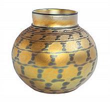 A Lundberg Studios Art Glass Vase Height 7 inches.