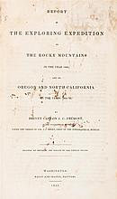 FREEMONT, J.C. Report of the Exploring Expedition to the Rocky Mountains... Washington, 1845. First ed., Senate issue.