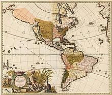 * (MAP) ALLARD, CAROLI. Novis Orbis sive Americae Septentrionalis e Meridionales.  [Amsterdam, c. 1700]