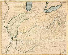 * (MAP) HUTCHINS, THOMAS AND GEORGE LOUIS LE ROUGE. Partie Occidental de la Virginie...et Caroline. Paris, 1781. Proof state.