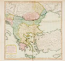 * (MAP) LAURIE & WHITTLE. A New Map of Turkey in Europe. London, 1794.  With one other of Yorkshire.