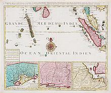 (MAP) ELWE, JAN BAREND. Partie de la nouvelle grande carte des Indes Orientales...  Amsterdam, 1692.