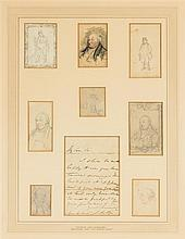 CRUICKSHANK, GEORGE. A collection of 8 sketches from the