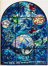 (CHAGALL, MARC) LEYMARIE, JOHN. The Jerusalem Windows. New York and Monte Carlo, (1961). 1st ed. W/2 original lithos.