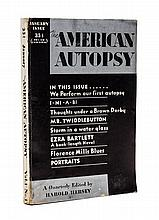 (PERIODICAL) AMERICAN AUTOPSY. Vol. 1, no. 1, January 1932. First and only issue of this literary periodical.