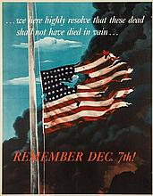 (WWII POSTERS) Two WWII propaganda posters.