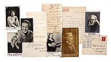* (THEATER) A group of 11 documents signed by actors and actresses, American and British.