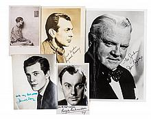 * (THEATER) 11 documents signed by actors and actresses, American and British.