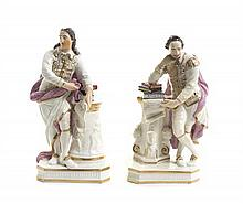 * Two English Porcelain Figures, Height of taller 7 inches.