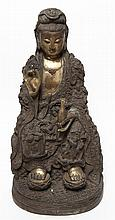 A Bronze Figure of Guanyin, Height 18 3/4 inches.