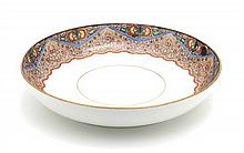 A Russian Porcelain Center Bowl Diameter 11 3/4 inches.