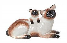 An Italian Ceramic Model of a Cat Length 20 1/2 inches.