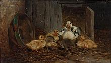 Philibert-Leon Couturier, (French, 1823-1901), The Young Brood