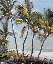 Robert Charles Gruppe, (American, b.1944), Palms in Light