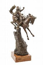 An Austrian Bronze Figural Group Height 30 inches.