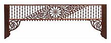 * A Victorian Spindled Frieze Height 42 inches.