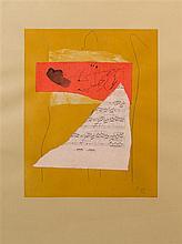 Robert Motherwell, (American, 1915-1991), Music Collage, 1978