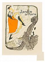 * Henri de Toulouse-Lautrec, (French, 1864-1901), Jane Avril Jardin de Paris (plate 110 from Les maitres de l'affiche)