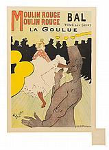 * Henri de Toulouse-Lautrec, (French, 1864-1901), Moulin Rouge, La Goulue (plate 122 from les maitres de l'affiche)