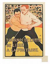 Armand Rassenfosse, (Belgian, 1862-1934), Tournoi de Lutte (plate 224 from Les maitres de l'affiche)