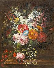 Daniel van Beke, (Dutch, 1669-1728), Floral Still Life, 1711