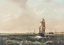 * Attributed to Clarkson Stanfield, (British, 1793-1867), Ship Scene