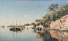* Federico del Campo, (Peruvian, 1837-1927), Venice Waterway, 1887