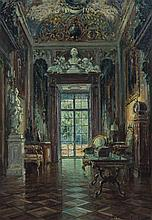 * W.T. Chmielinsky, (Polish, 19th century), Interior Scene