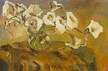 Alfons Karpinski, (Polish, 1875-1961), Still Life with Calla Lillies